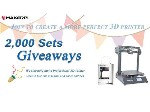 Announcement Of The First Phase Of The 2000 3D Printers Giveaway